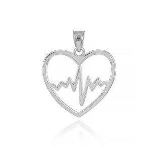 گردنبند نقره قلب و ضربان مدل Givi121