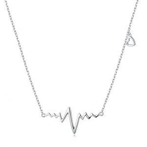 گردنبند نقره قلب و ضربان مدل Givi124