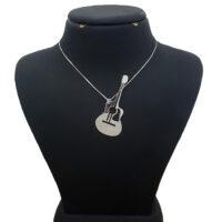 گردنبند نقره گیتار مدل Givi288