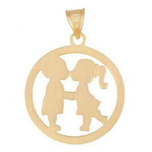 مدال نقره دختروپسر مدل Givi1844
