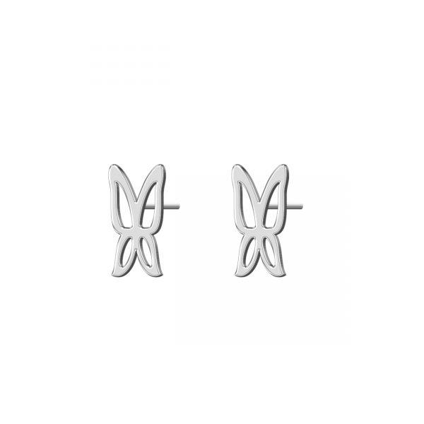 گوشواره نقره طرح پروانه مدل Givi2501