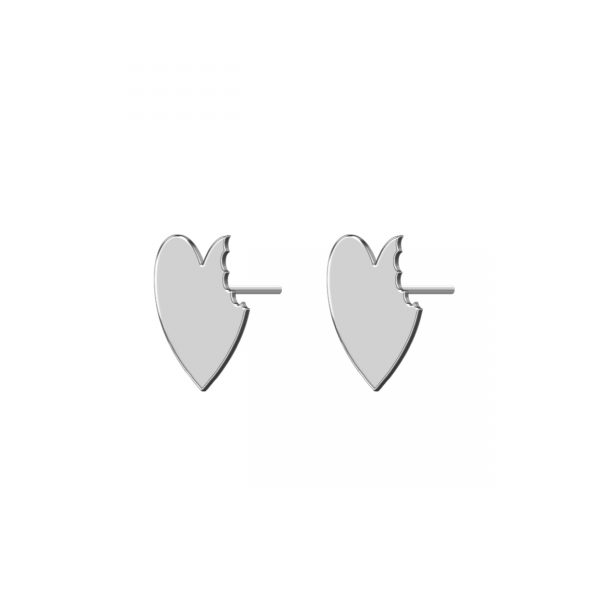 گوشواره نقره طرح قلب مدل Givi 2049