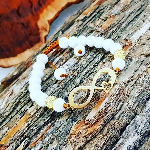 دستبند نقره طرح بینهایت132