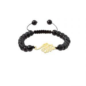 دستبند نقره طرح مهستی مدل Givi4565