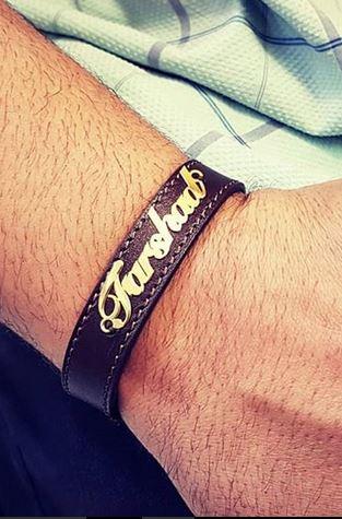دستبند چرم اسم فرشاد186