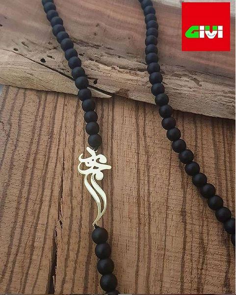 گردنبند نقره اسم محمود3