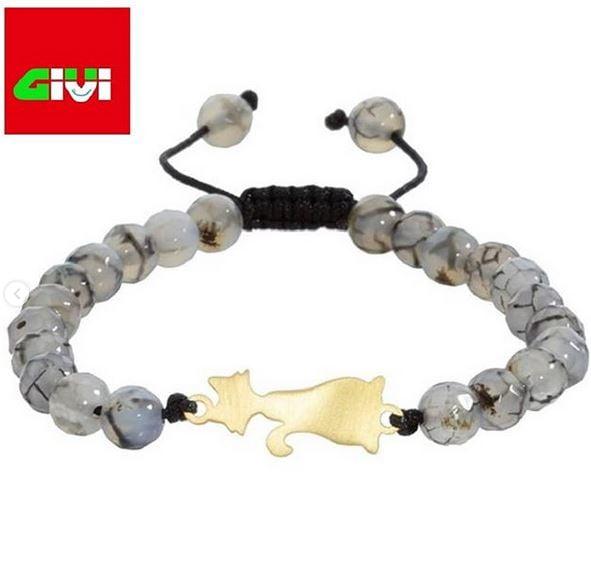 دستبند سنگ طرح گربه 106