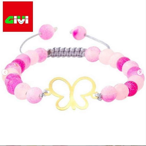 دستبند سنگ طرح پروانه95